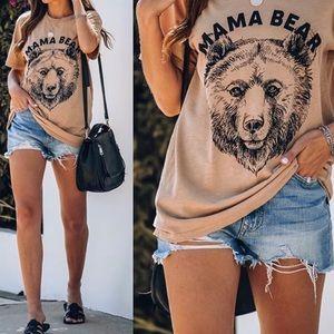 NWOT Lulusimon Studios Mama Bear tee
